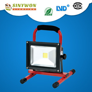 10w portable led rechargeable flood light DC 12V led emergency rechargeable work light for camping outdoor