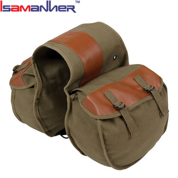 Water Resistant Canvas Motorcycle Side Bag 9ad937ef1994