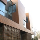 Brushed [ Wall Cladding ] Wall Panel/composite Wall Cladding Outdoor WPC Wall Panel Composite Wood Cladding