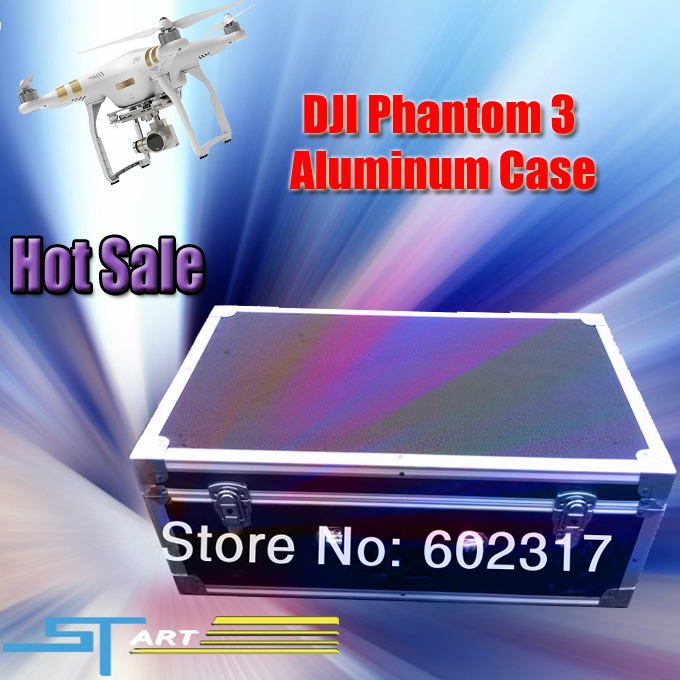 New Arrivals Drop Shipping DJI Phantom 3 Aluminum Case FPV Camera Drone Boxes