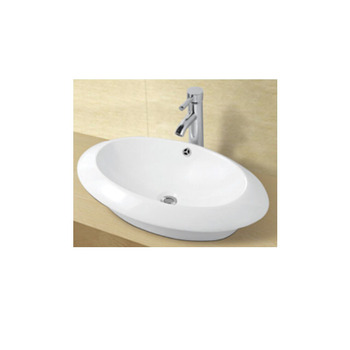 Wholesale Porcelain Material Egg Shaped Counter Top Wash Basin Bathroom Countertop View Larger Image