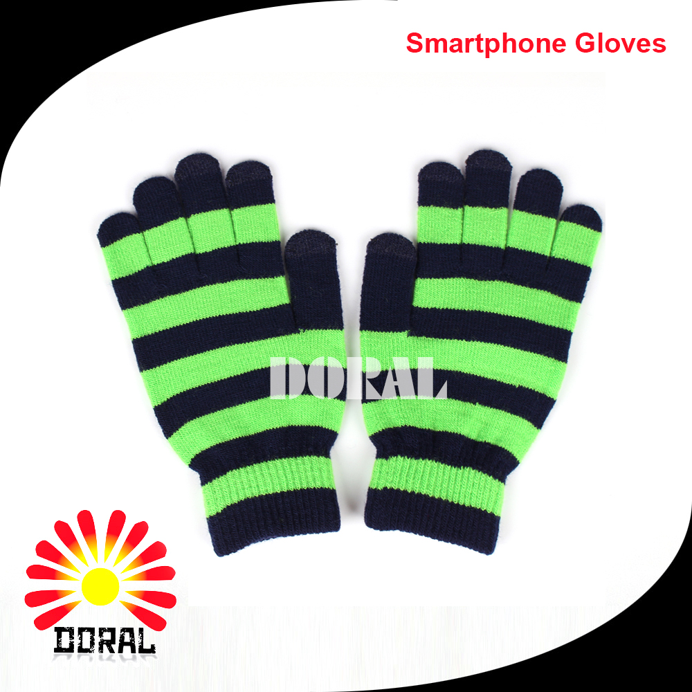Comfortable Winter Warm Full Finger Jacquard Touch Screen Magic Gloves