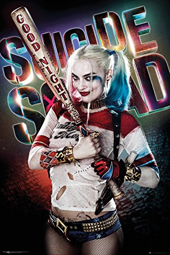 """Suicide Squad - Movie Poster / Print (Harley Quinn - Good Night) (Size: 24"""" x 36"""") (By POSTER STOP ONLINE)"""