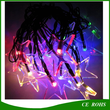 5M 20 LED Solar Powered Five Pointed Star String Lights Outdoor Garden  Christmas Party Decor