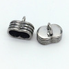 Stainless Steel clasps end cap Jewelry Accessorie two double holes hole fit 5MM cord BXPJ033