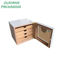 custom oem piano white lacquer finish luxury cedar wood cigar humidor cabinet