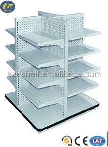 Advertising Supermarket Four Sided Display rack / Storage Shelf