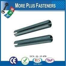 Made in Taiwan Clear Zinc Finish Steel Slotted Spring Tension Pin