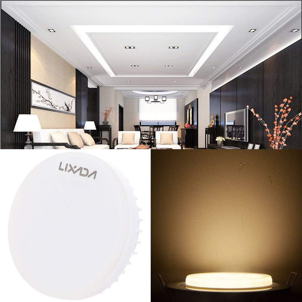 Lixada GX53 Bulb 7W 24 SMD2835 Epistar LEDs 580LM Decorative LED Spotlight Warm White