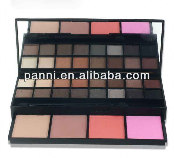 Wholesale 20 color cosmetic eye shadow set 16 color warm makeup eyeshadow + 4 color blusher