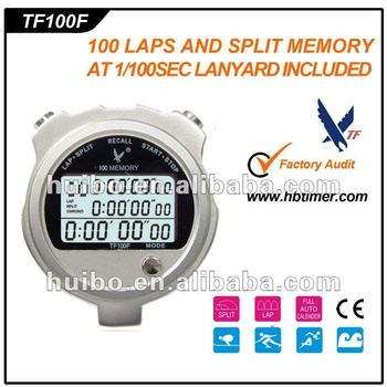 2012 New Professional Electronic Metal Digital LCD Sports Timer Stopwatch /Chronograph watch with 100 memory