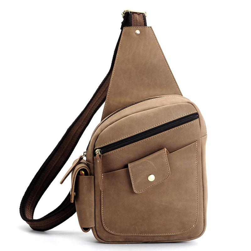 Get Quotations · TIDING Men s Genuine bull leather shoulder bag backpack  messenger sling bag NEW Arrival 3031R 0bae0ae4095b6
