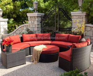 round shape synthetic outdoor wicker sofa