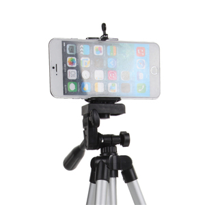 Universal Collapsible 4 Section 1 Meter High Aluminum Alloy Multifunctional Tripod For Mobile Camera