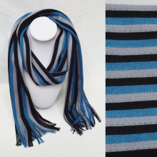 black blue white stripe scarf knitting pattern for men