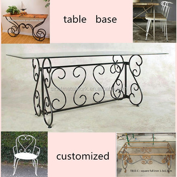 Decorative Marble Pedestal Metal Table Base Wrought Iron Bases For Vintage Dining