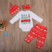 Hot Sale Organic Cotton Baby Romper Set christmas NewBorn Baby Clothes Set Baby Gift Set