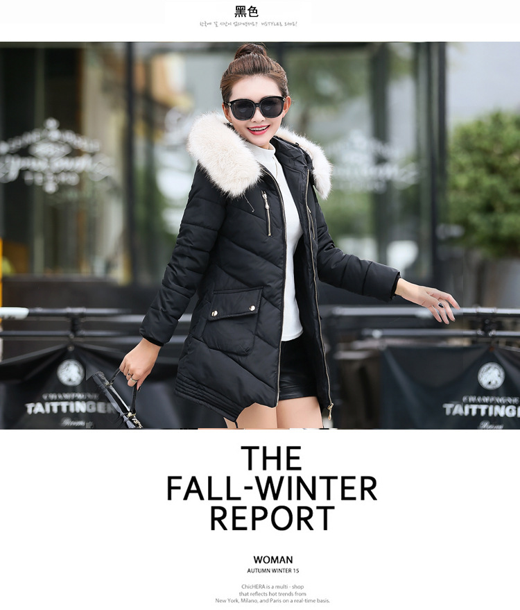 2015 winter duck down jacket women long coat parkas thickening Female Warm Clothes Rabbit fur collar High Quality