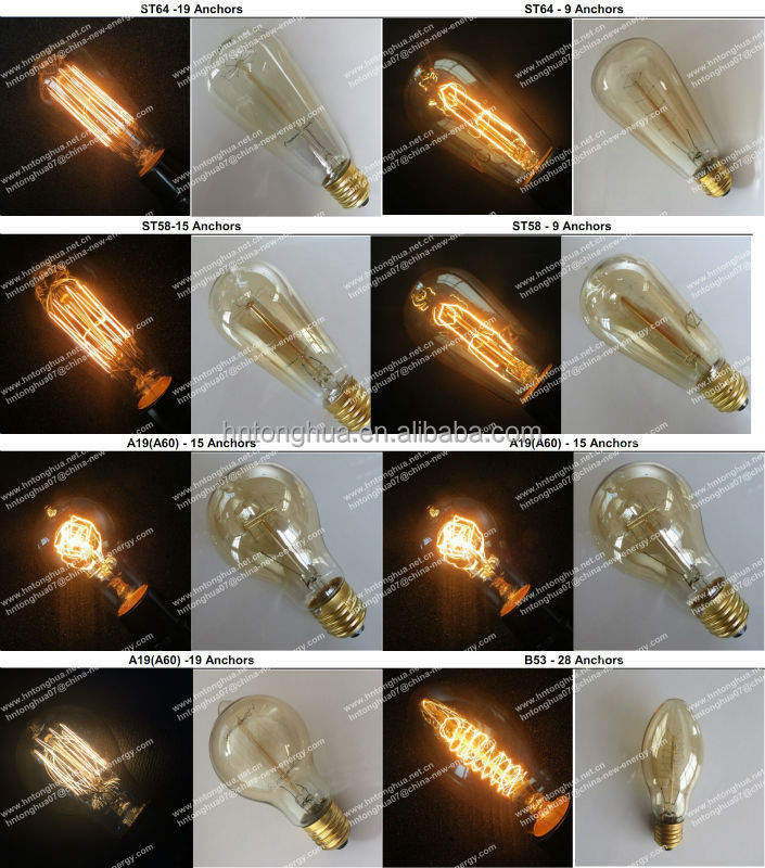 Edison Vintage Light Bulb Hanging Fixtures Cage Shade Bird Cage ...