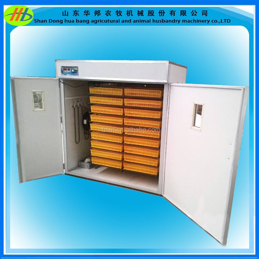 hot sale CE certification 2640 capacity chicken egg incubator for poultry farming equipment