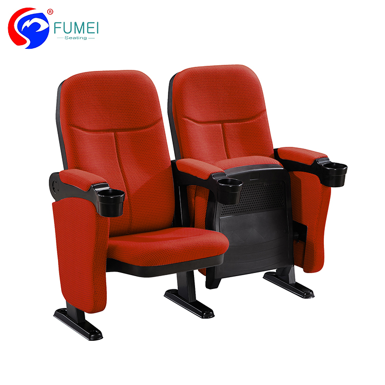 Modern Vip Cheap Low Price Red Blue Theater Cinema Chair Fabric Seats With Cup Holder For Sale
