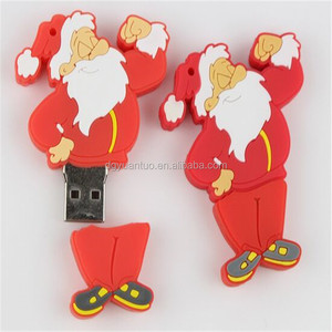 Christmas design hot sale OEM USB Flash Free Mould Cost Customizer 3D PVC USB