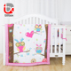 Newest design latest desirable cot baby crib bedding set set baby girl