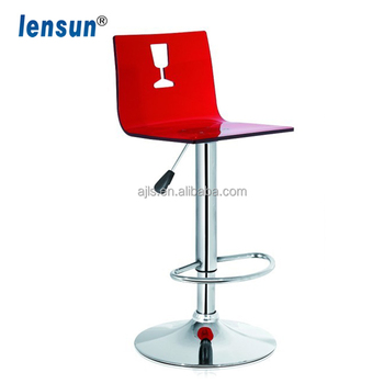 ACRYLIC Bar Chairs /Bar Stools ,bar Furniture With Chrome Plated  Base,leisure Chair
