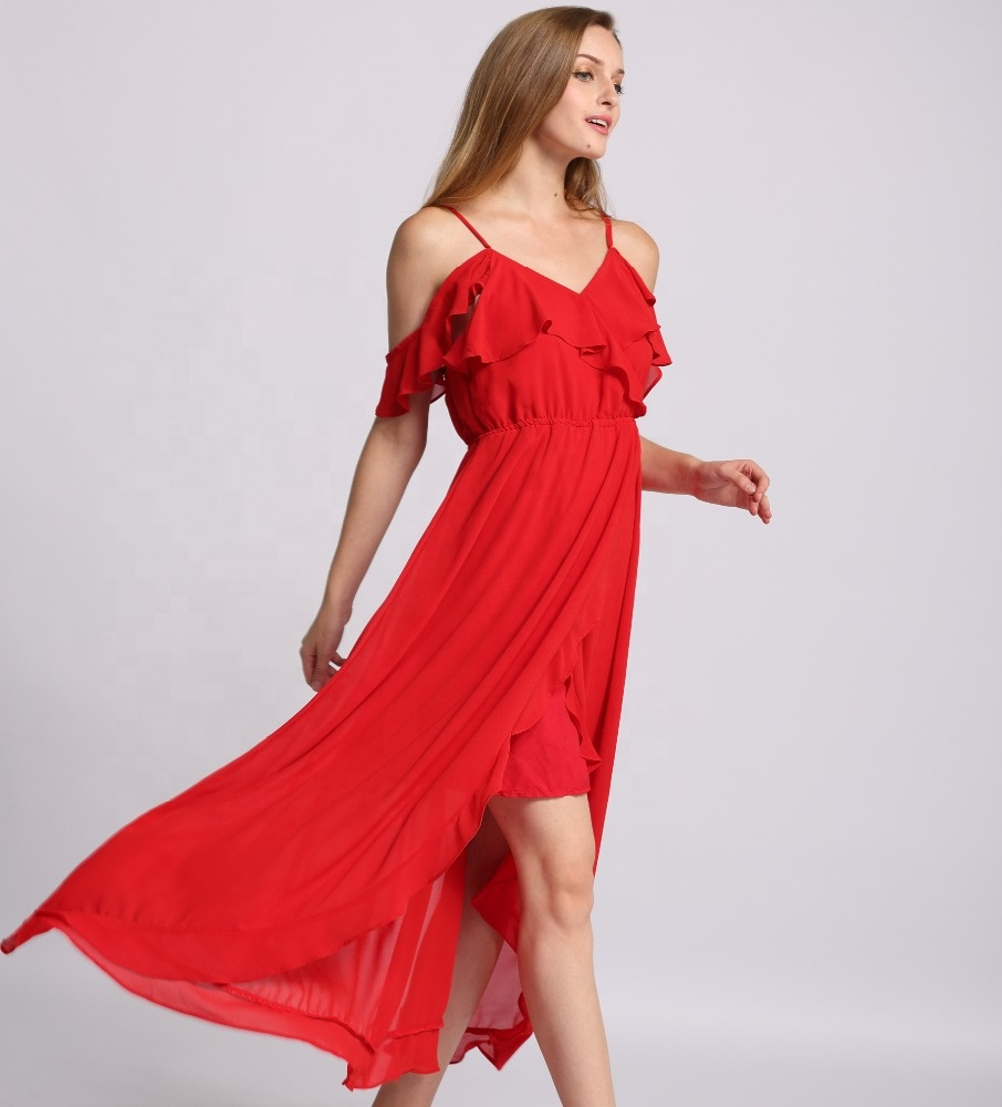 <strong>Red</strong> <strong>dress</strong> sleeveless sexy party <strong>dress</strong> 100% <strong>silk</strong> thin shoulder <strong>dress</strong> sold in Europe and America