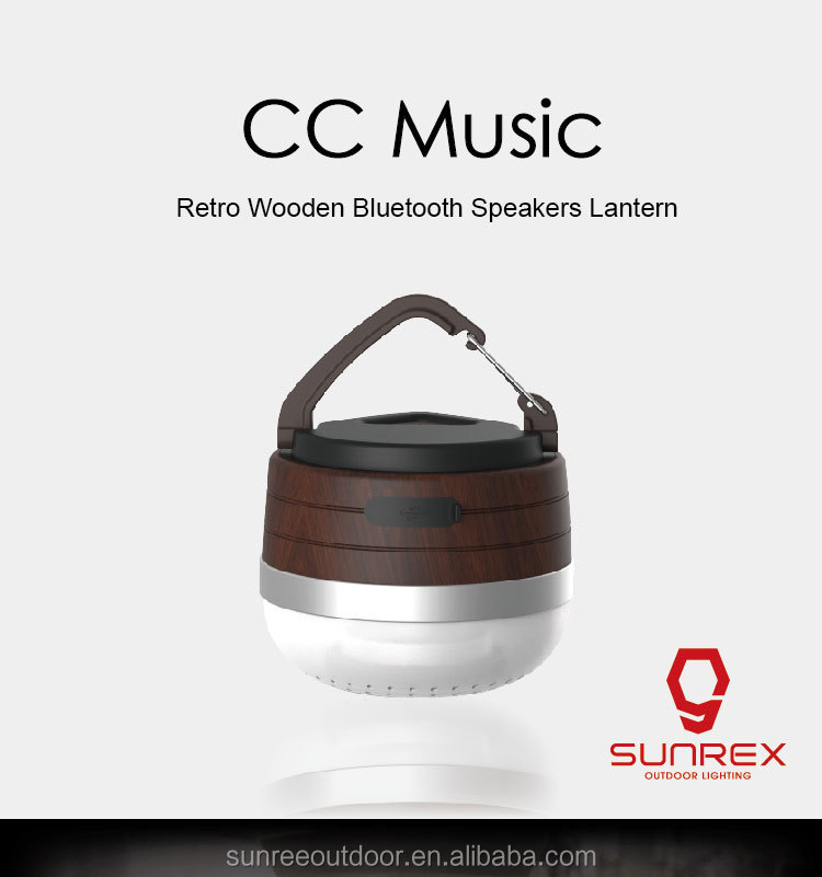 sunree CC music retro wood bluetooth speakers camping lantern wide selection