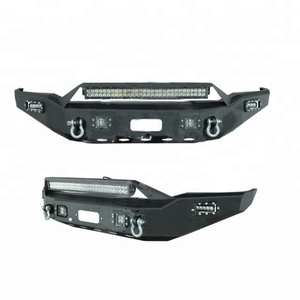 Kipardo hot sale Front Bumper for pickup /truck/4x4 heavy duty car with led light built in winch plate