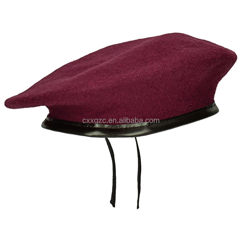 High quality military 100% wool custom army beret cap