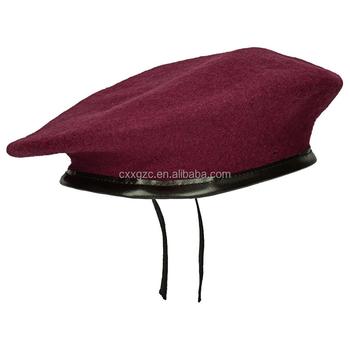 Militar de alta qualidade 100% lã cap boina do exército personalizado f9e177b2c0e