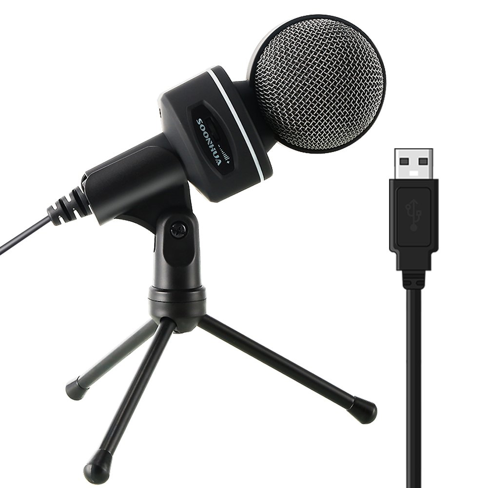 Cheap The Best Microphone For Youtube Find Mini Smule Dengan Headset Jack 35 Get Quotations Usb Soonhua Condenser With Tripod Desktop Pc Professional Studio