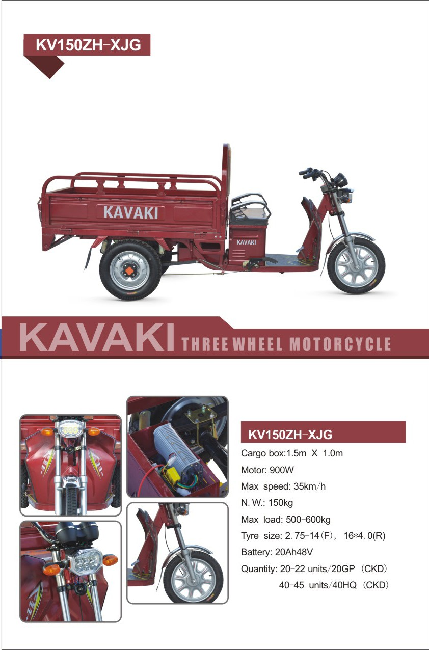 Kavaki Manufacturer Sale 900w20a Cargo Electric Triclecycle New ...