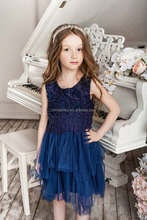 kids party wear Cotton Polyester birthday dresses for girls