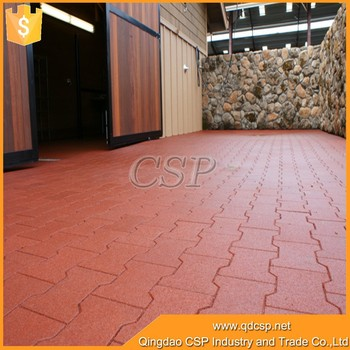 Red Color Outdoor Floor Tiles Prices Rubber Patio