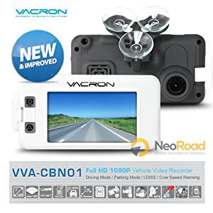 """VACRON - NEW & IMPROVED All-In-One Vehicle Video Recorder with Advanced Lane Departure Warning System (LDWS), Over Speed Warning, GPS Logger Motion Detection, Auto Time Calibration & more. Full HD True 1080P 30FPS / 720P 60FPS, 5M CMOS Sensor, 3"""" TFT Hi-Res LCD Display, G-Sensor. Best Car Black Box!"""