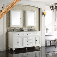 FED-6065 Luxury transitional white bathroom vanity, bath furniture, bathroom cabinet