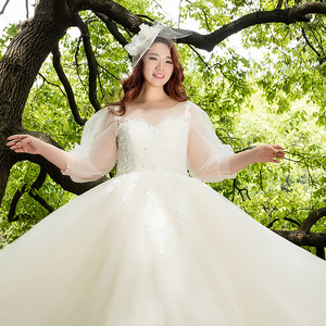 LSW009F sexy dress plus size 2018 high quality luxury sweetheart bridal ball gown dress