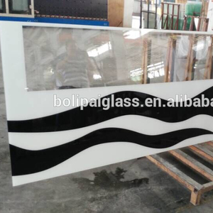 CE Certificate Customizable Beautiful Screen Printing Safety Tempered Laminated Glass Glass Wall