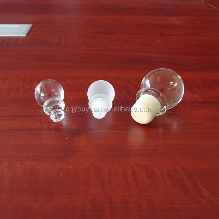 Wholesale different size glass perfume bottles stoppers