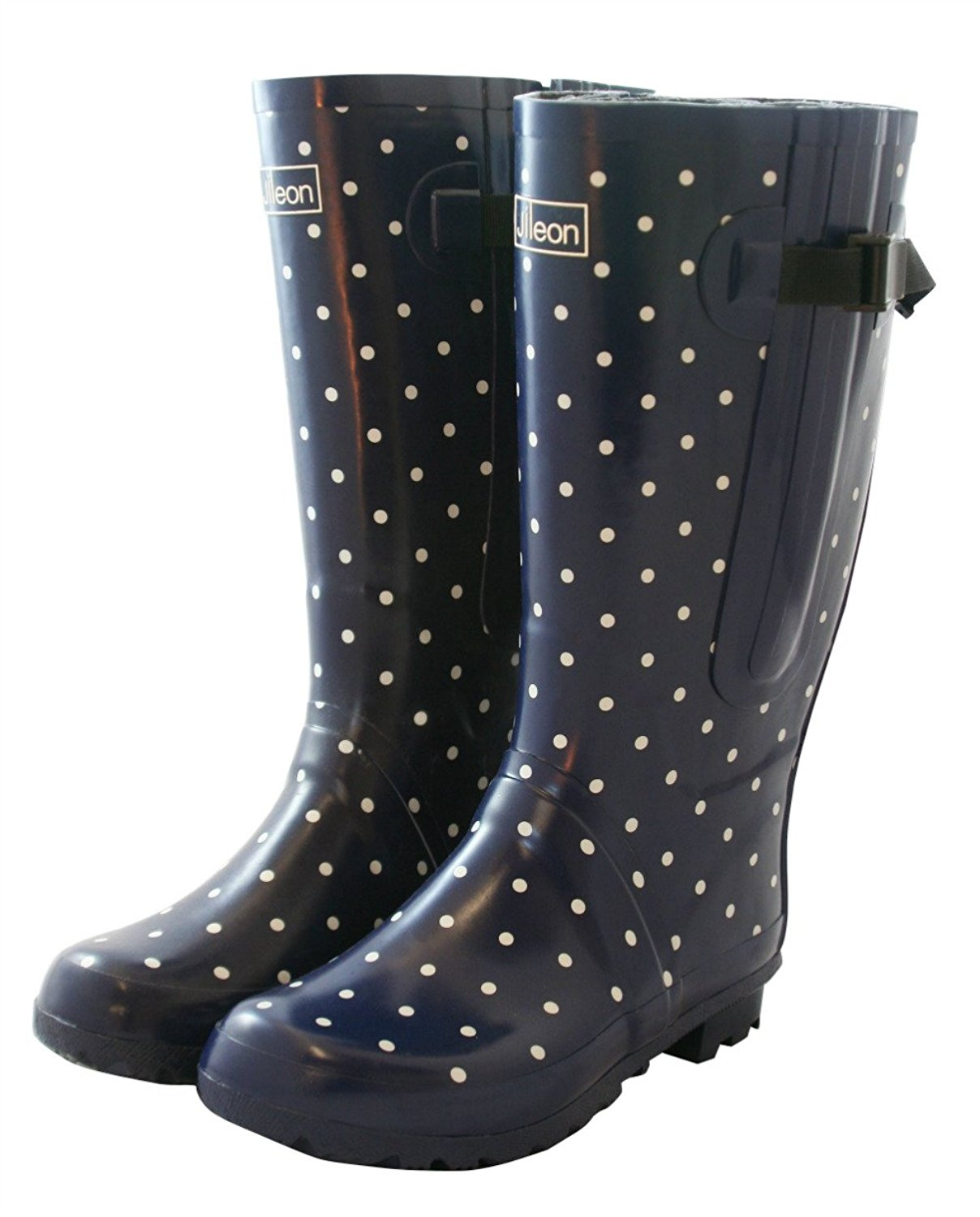31e53fcb914e Get Quotations · Jileon Extra Wide Calf Rubber Rain Boots for Women-Widest  Fit Boots in The US