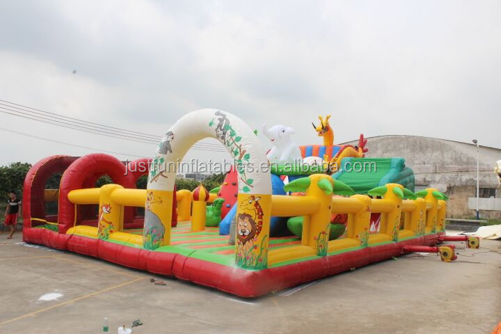 Hot Sale in Middle East giant kids air inflatable playground on sale