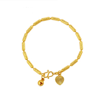 xuping new arrival jewellery gold plated small bell bangles & bracelets for women