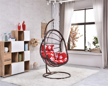 Park/Bedroom Hammock Swing Bamboo Hanging Chair With Iron Steel Stand Base  Double Seats Egg