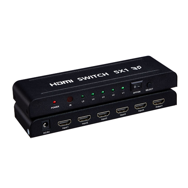 Vision high quality 1x5 HDMI Switch with HDCP 1.2v support 1080p