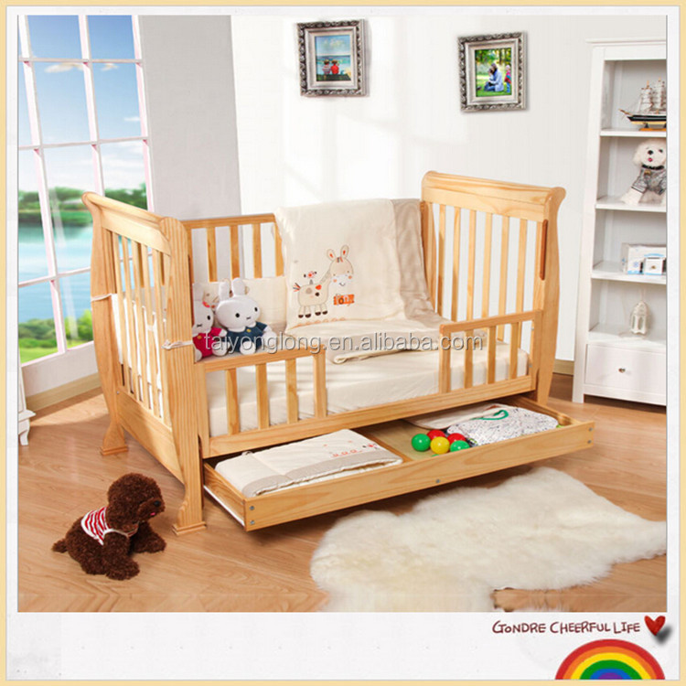 Modern Wooden Cot Design baby