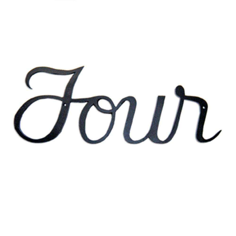 "Script House  Number [Set of 3] Number: Four, Size: 3.13"" H x 8"" W x 5.25"" D"