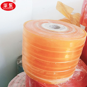 High quality Clear Colour Ribbed PVC Curtain Strip for Door